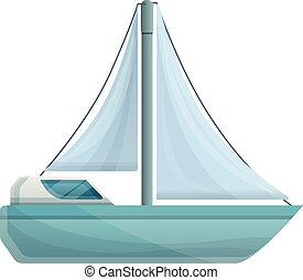 ikon, vitorlás hajó, mód, modern, karikatúra