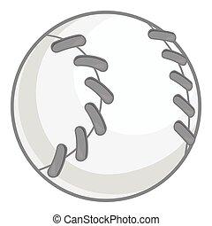 ikona, baseball, styl, czarnoskóry, monochromia