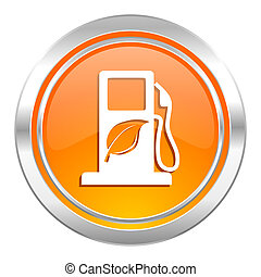 ikona, bio, opał, biofuel, znak