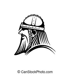 ikona, brodaty, wojownik, wiking, aggressor, barbarzyńca