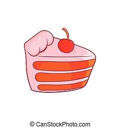 ikona, ciastko, styl, kawał, rysunek
