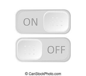 ikona, dźwignia kolankowa, od, witka, button.