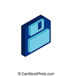 ikona, disketa, osamocený, za