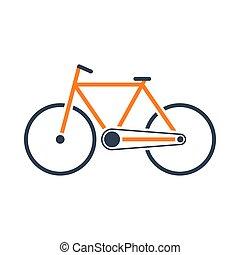 ikona, ekologiczny, rower
