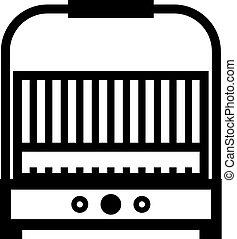 ikona, grill, elektryczny