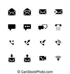 ikona, komunikacja, stały