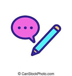 ikona, kontur, interlocutor, ilustracja, symbol, pozwy, ...