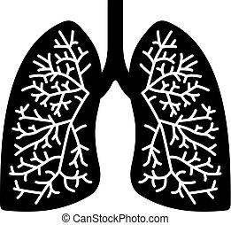 ikona, ludzkie płuco