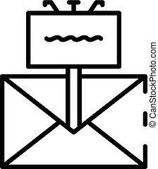ikona, móda, newsletter, nárys, propagační