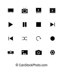 ikona, multimedia, stały