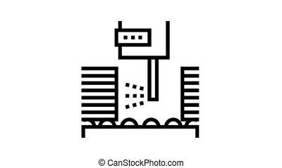 ikona, ożywienie, deska, kreska, oliwiący, maszyna, drewniany