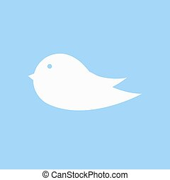 ikona, ptáček, firma