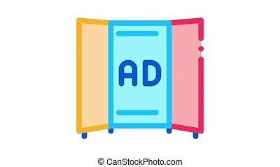 ikona, reklama, broszura, ożywienie