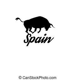 ikona, s, ta, španělský vlaječka