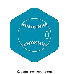 ikona, styl, baseball, szkic