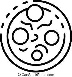 ikona, styl, diplococcus, szkic