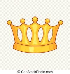 ikona, styl, korona, rysunek, baroness