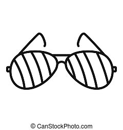 ikona, styl, policja, szkic, okulary