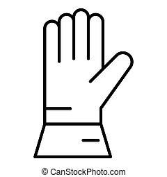 ikona, styl, spawacz, szkic, rękawiczka