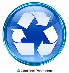 ikona, symbol, recycling
