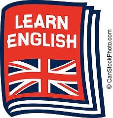 ikona, uczyć się, angielski