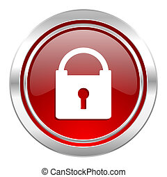 ikona, visací zámek, bezpečný, firma