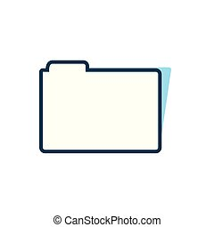 ikone, dokument, freigestellt, büroordner, datei