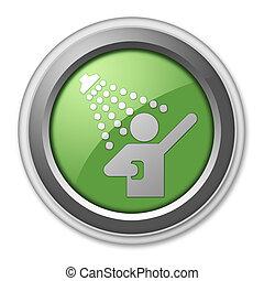ikone, dusche, taste, piktogramm