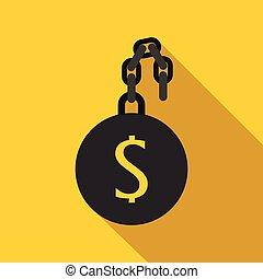 ikone, geld, stil, sklave, wohnung
