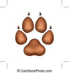 ikone, hundepfote