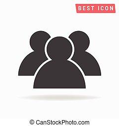 ikone, ikone, gruppe, eps, benutzer