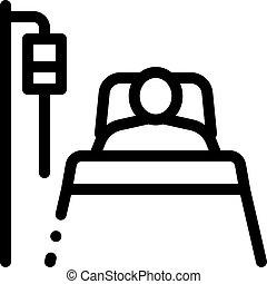ikone, patient, wiederbelebung, grobdarstellung, abbildung, ...
