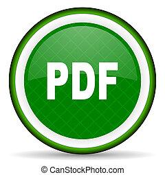 ikone, pdf, grün