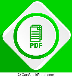 ikone, pdf, grün, wohnung