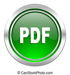 ikone, pdf, taste, grün