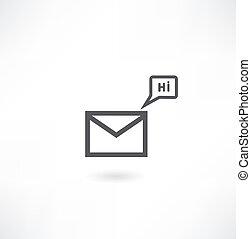 ikone, post, vektor, eps10