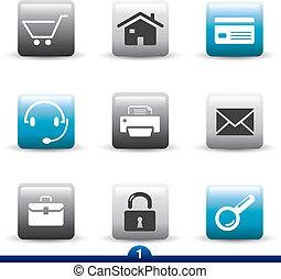 ikone, reihe, 1, -, web, universal