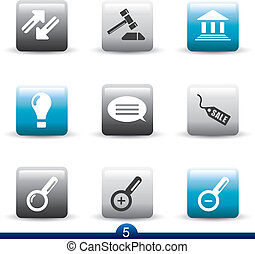 ikone, reihe, 5, -, web, universal