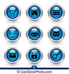 ikone, reihe, 6, -, web, universal