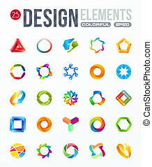 ikone, set., logo, entwerfen elemente