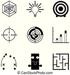 ikone, strategie, satz
