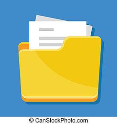 ikone, vektor, dokumente, büroordner