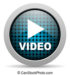 ikone, video, glänzend