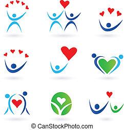 ikonen, förhållande, kärlek