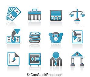 ikonen, finans, affär, bank