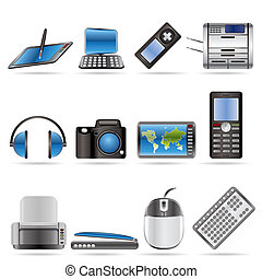ikonen, high tech, teknisk, utrustning