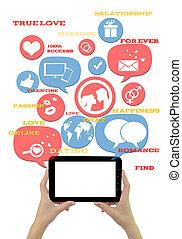 ikonen, kompress, mall, text, isolerat, plats, datering, direkt, vit
