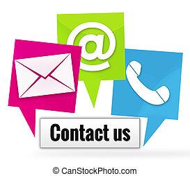 ikonen, kontakt oss, undertecknar
