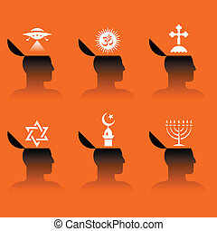 ikonen, människa huvud