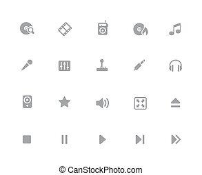 //, ikonen, media, 32px, spelare, serie, vit